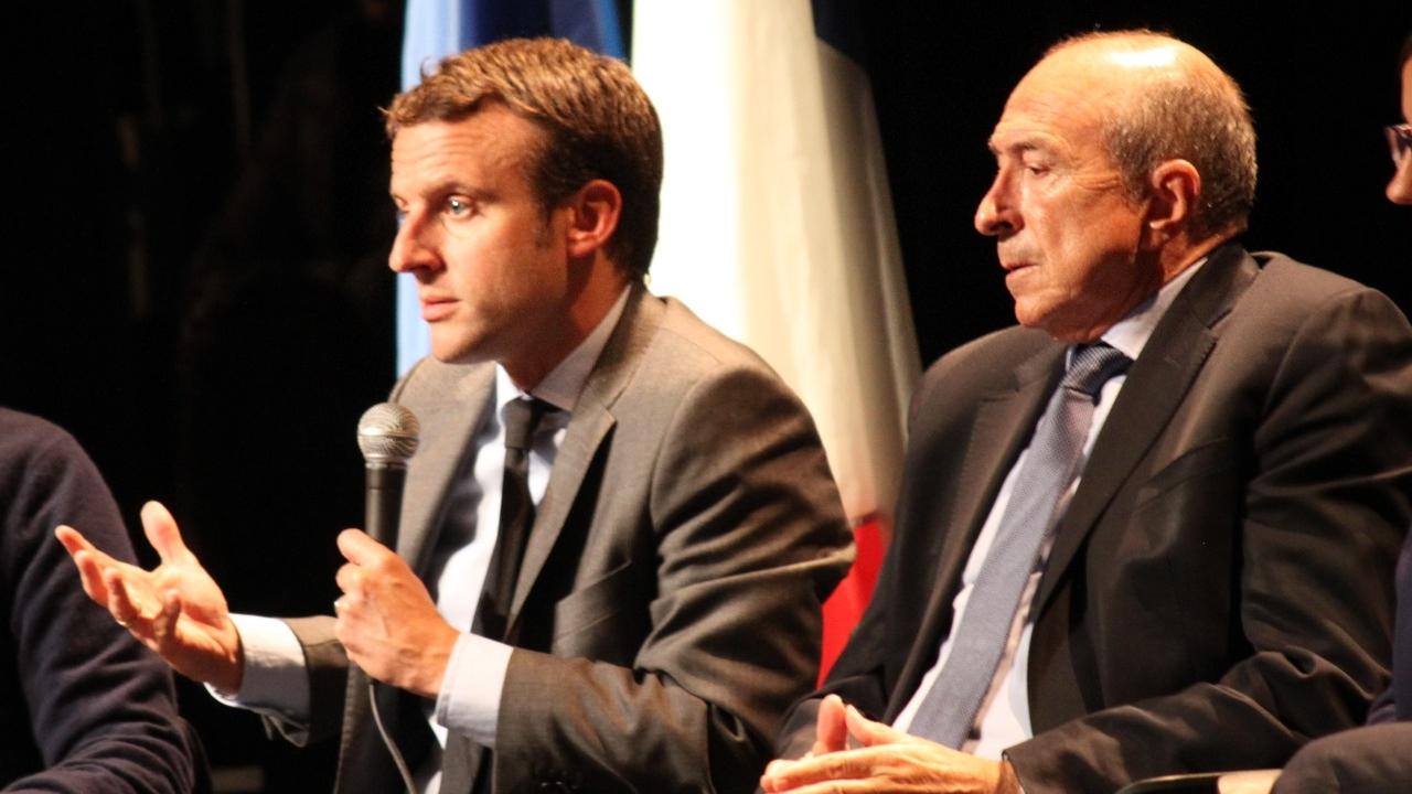 Gérard Collomb en visite au Vatican avec Emmanuel Macron