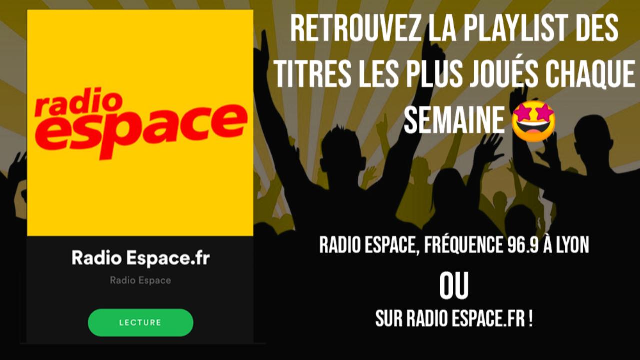 Chaque semaine, redécouvrez la playlist Radio Espace sur Spotify
