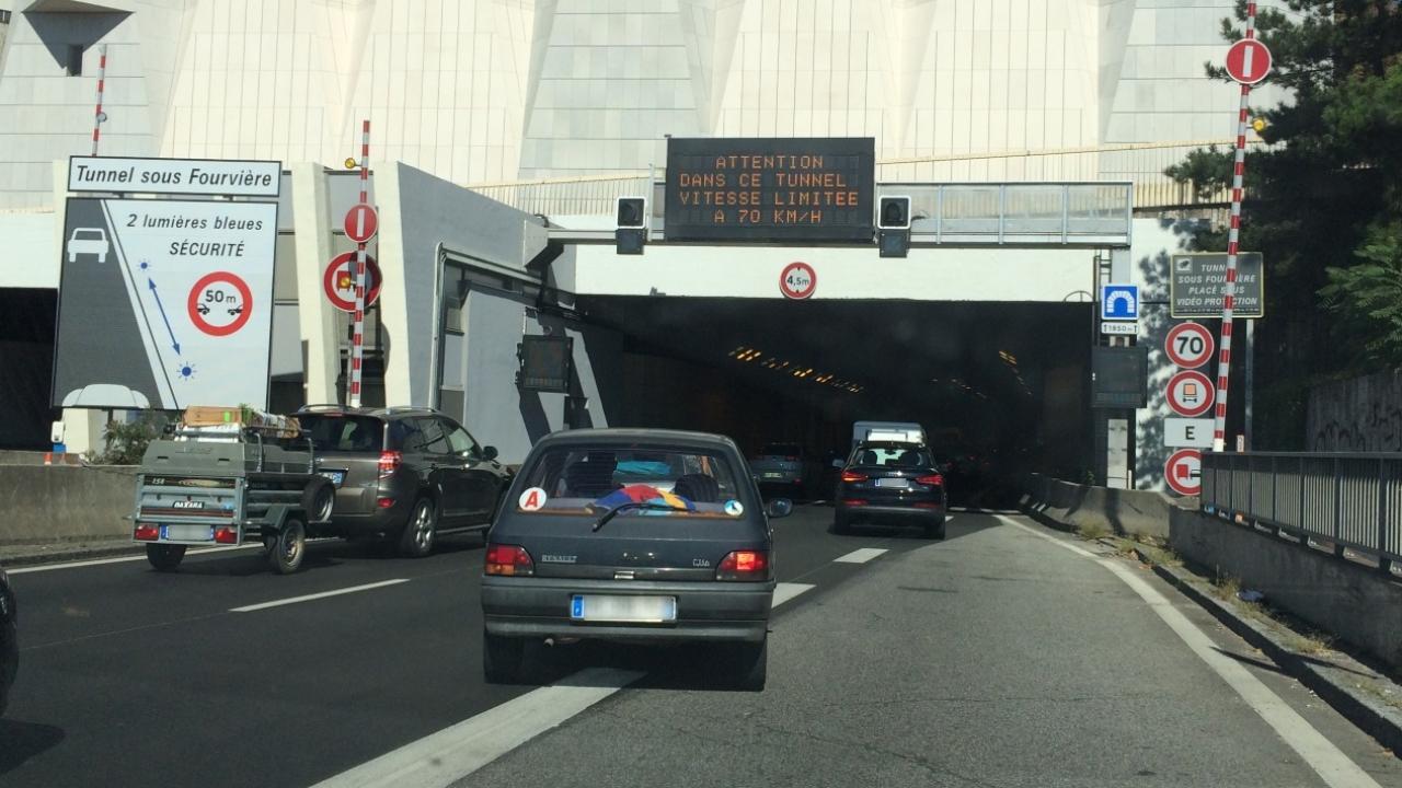 Tunnel sous Fourvière : pas d'amélioration avant mercredi soir