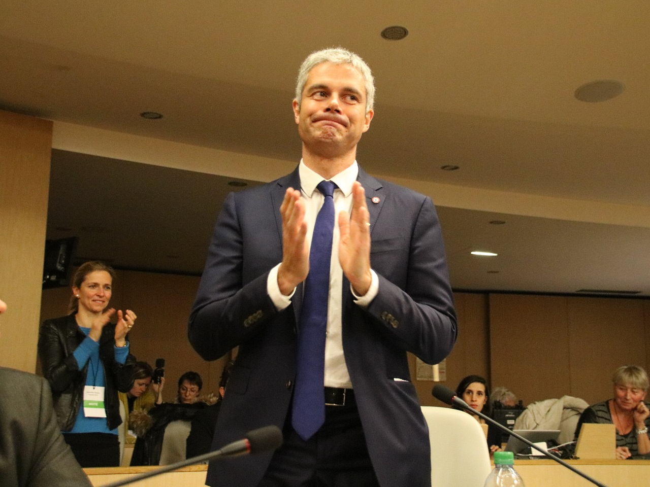 Laurent Wauquiez milite pour retrouver seul la présidence des Républicains