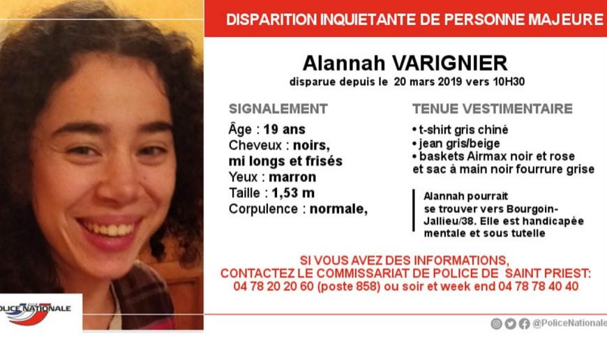 Lyon : Disparition d'une jeune fille handicapée à St Priest.