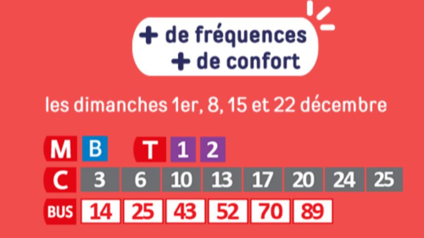 Les prochains dimanches à Lyon : magasins ouverts, TCL renforcés