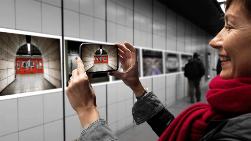 Une exposition en réalité augmentée dans le métro