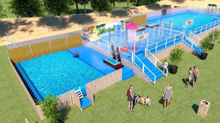 Un piscine temporaire installée au parc de la Tête d'Or !