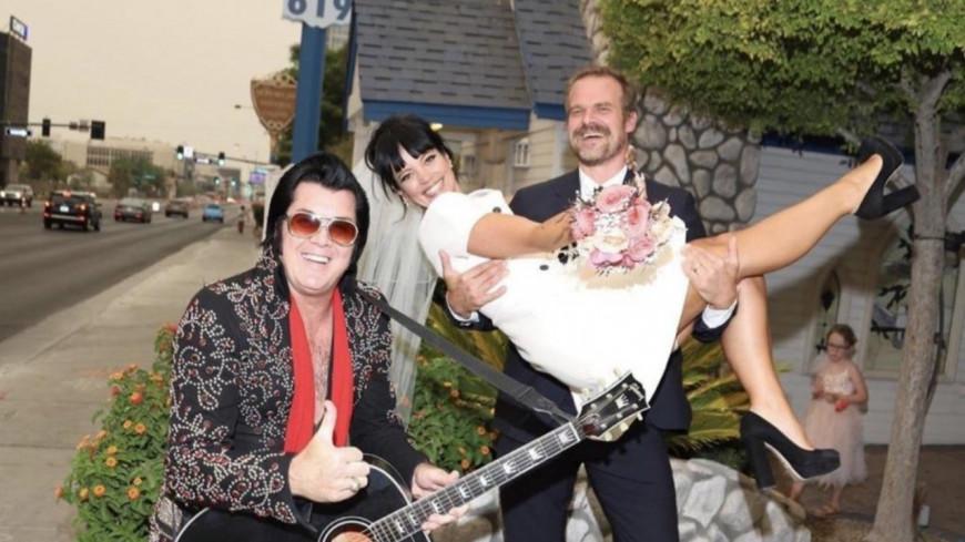 Lily Allen s'est mariée avec David Harbour (Stranger Things) à Las Vegas  (photos)