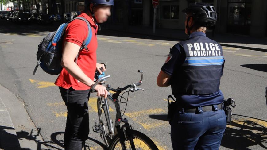 Lyon : 50 cyclistes verbalisés en une heure !