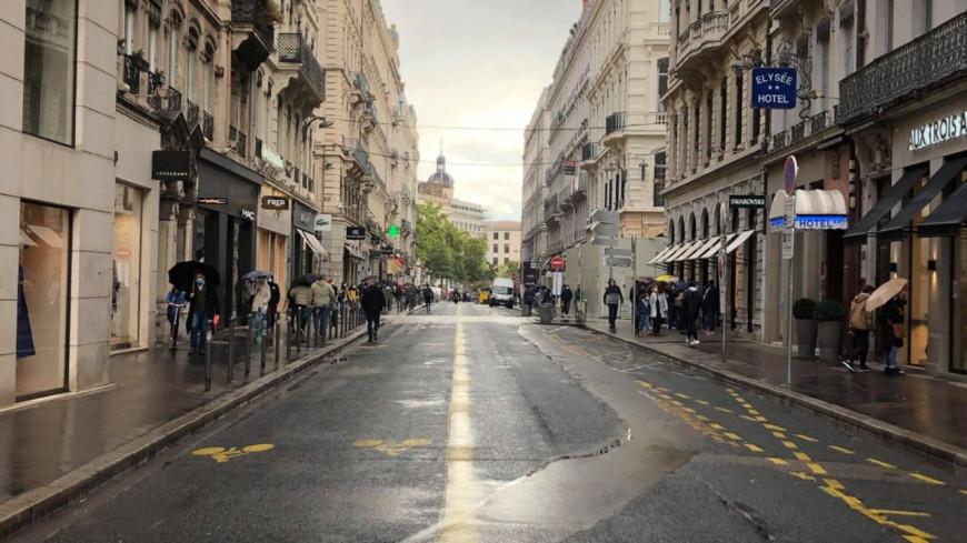 Plusieurs rues de Lyon piétonnes ce week-end pour la réouverture des commerces