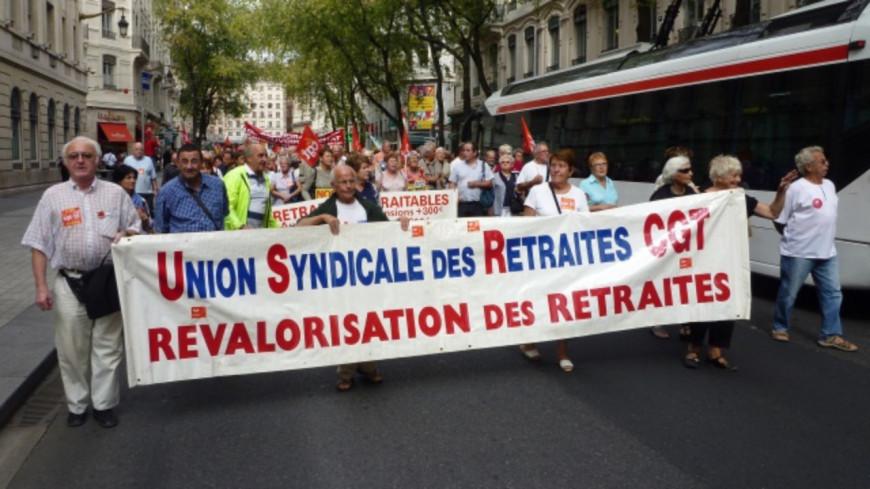 Les retraités dans la rue ce mercredi à Lyon