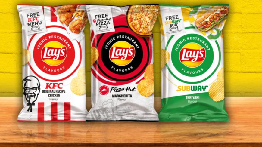 Les chips LAY'S dévoilent leurs nouvelles saveurs : KFC, Subway et Pizza Hut !