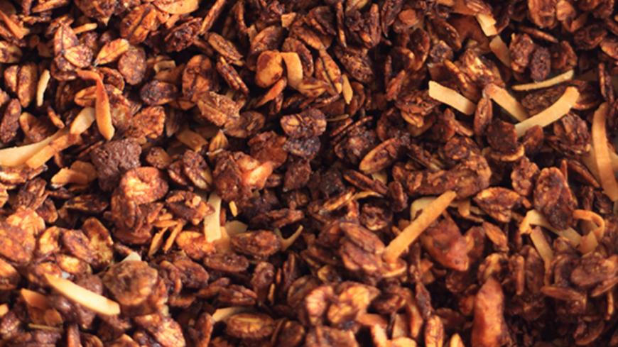La recette du granola chocolat framboises!