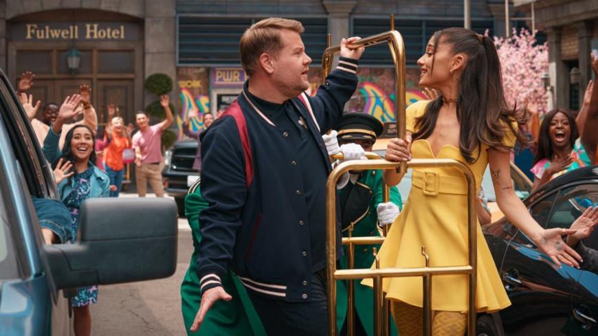 "Ariana Grande et James Corden parodient ""Hairspray"" ! (vidéo)"