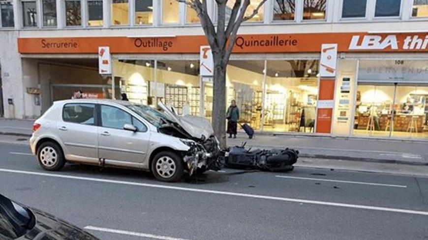 Lyon : un homme grièvement blessé dans un violent accident de scooter !